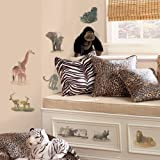 RoomMates RMK1130SCS Safari Peel & Stick Wall Decals 19 Count