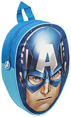 childrens-character-backpacks-wipe-clean-surfaces-captain-america-head-shaped