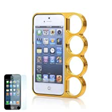 buy Happy Hours Lord Of The Rings Knuckles Hard Case Cover For Iphone 5 5G 5Th With Free Gift 1Xscreen Protector (For Iphone 5, Gold)