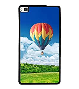 Hot Air Balloon 2D Hard Polycarbonate Designer Back Case Cover for Huawei P8
