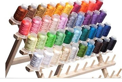 40 Spools Polyester Embroidery Machine Thread Color Assorted Colors