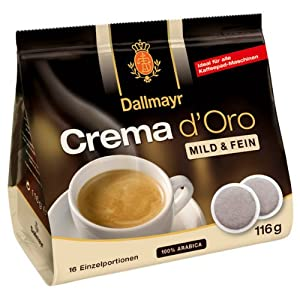 Dallmayr Crema d Oro intensa, 16 Coffee Pods