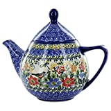 Polish Pottery Bird Teapot