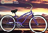 "New Micargi 26"" Ladies Bike Beach Cruiser Bicycle Pantera Purple"