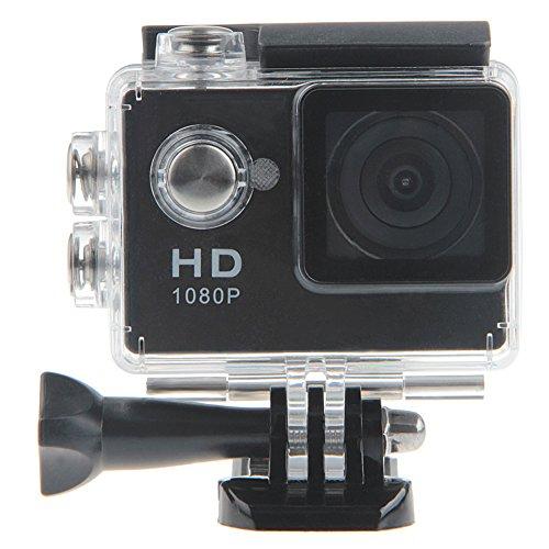 Padgene Full HD 1080P Sport Videokamera Camera Camcorder Action DVR Outdoor Wasserdichte Hülle (Schwarz)