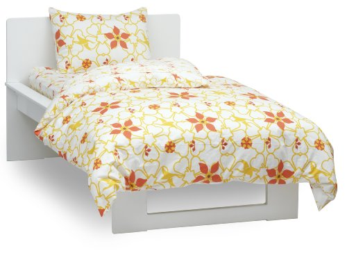 Argington Organic Twin Quilt, Heart And Flowers Print