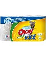 Okay XXL - Essuie-Tout Blanc x 4 Rouleaux - Lot de 2