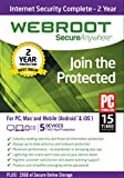 Webroot Internet Security Complete 2016 |  5 Devices | 2 Years | Mac