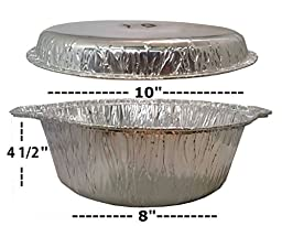 Hanamal Disposable Aluminum Pot with Cover Large - Kosher (2ct.)