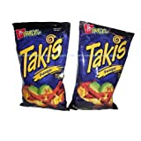 Takis Fuego Hot Chili Pepper & Lime Flavored Corn Snacks(Two 9.9 oz. Bag)