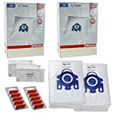 Miele GN Vacuum Hoover Bags - TT5000 S5210 S5211 S5261 Cat & Dog Genuine Original Hyclean + Filters (2 Box, + 10 Air Fresheners)