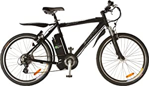 e-Moto 1.0 Ridge 24-Volt Electric Trekking Bicycle (Black, 26-21-Inch)