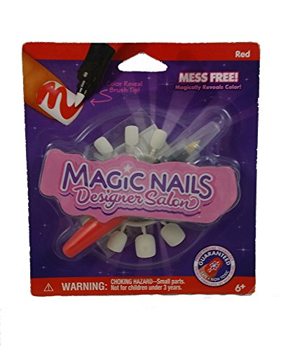 Magic Nails Designer Salon Red Nail Decorating Set - 1