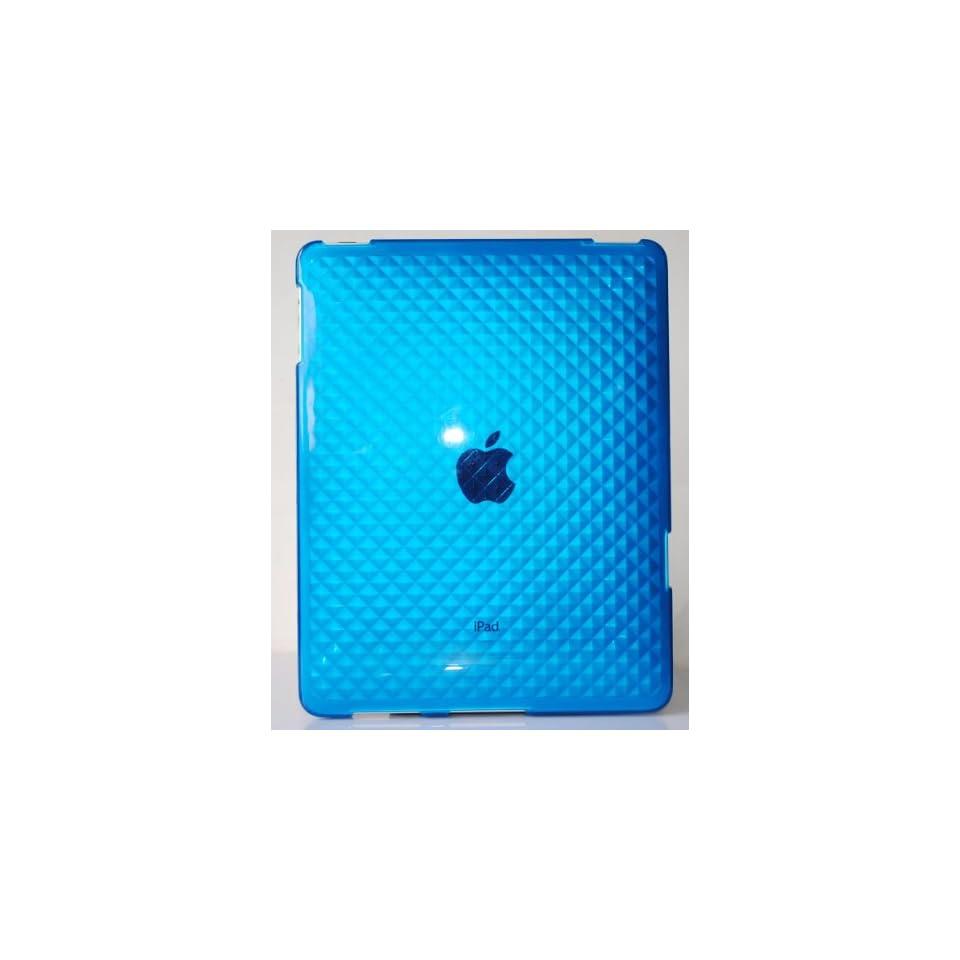 Blue Diamond Wave Premium Crystal Candy TPU Silicone Skin Case for Apple Ipad + Precut LCD Screen Protector