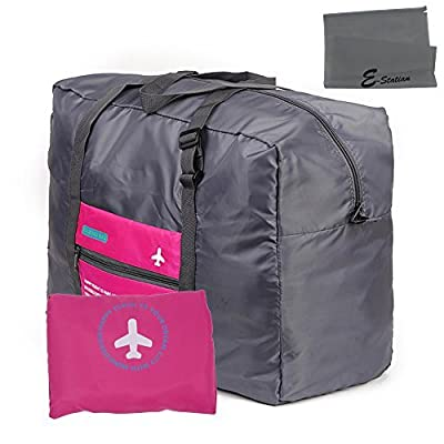2015 New Style Waterproof Folding Packing Travel Duffel Bag Large Capacity Lightweight Multifunction Duffel Clothes Organizer Storage Bag for Luggage, Sports Gear or Gym, Airport Inspection, Shopping + E-Station Travel Portable Dust-proof Bag