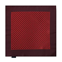 EEHB0372 Maroon Red Patterned Microfiber Pocket Square Presents Idea For Christmas Hanky By Epoint