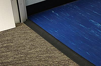 IncStores Rubber Transition Floor Ramps Ideal For Rubber Tiles, Mats Or Rolls 12' Long Strip