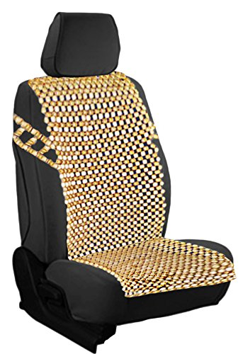 Zento Deals Natural Royal Wood Bead Seat Cover Massage Cool Premium Comfort Cushion (Wood Seat Cover compare prices)