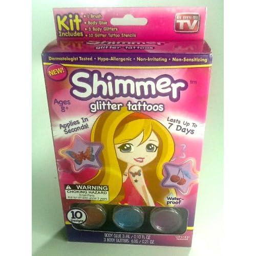 Amazon.com : Shimmer Glitter Tattoos for Kids - As Seen on TV - New