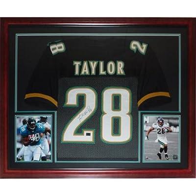 Fred Taylor Autographed Jacksonville Jaguars (Black #28) Deluxe Framed Jersey