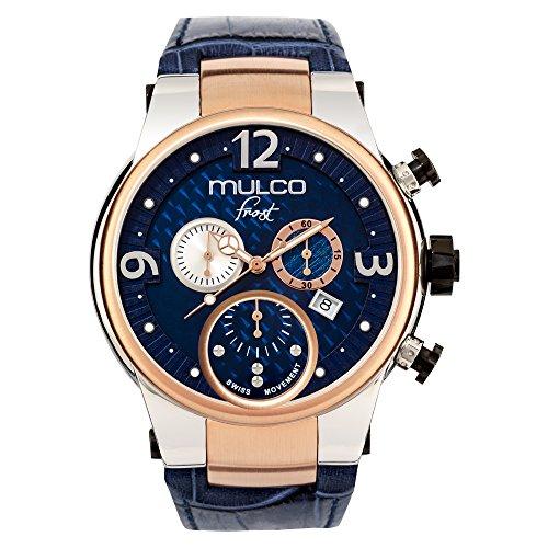 Frost de Mulco MW5-2602-043azul cuero banda hombres reloj