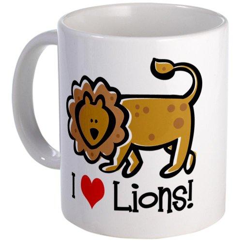 Cafepress I Love Lions Mug - Standard