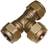 22MM OD EQUAL TEE BRASS - Equal (Brass compression fittings, metric)