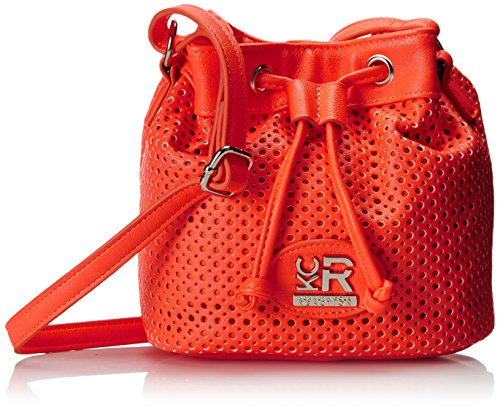 Kenneth Cole Reaction Brown Street Bucket Minibag Cross Body Bag, Electric Coral, One Size