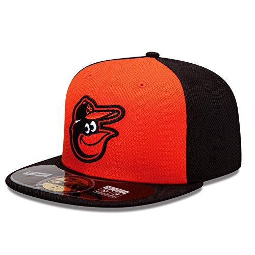 MLB Baltimore Orioles Batting Practice 59Fifty Baseball Cap, Orange/Black