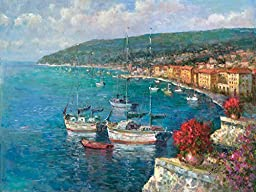 Portfolio Canvas Decor Large Printed Canvas Wall Art Painting, 30 by 40-Inch, Harbor View, Framed and Stretched Ready to Hang