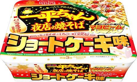 明星 一平ちゃん夜店の焼そば ショートケーキ味 110g 1ケース(12食入)