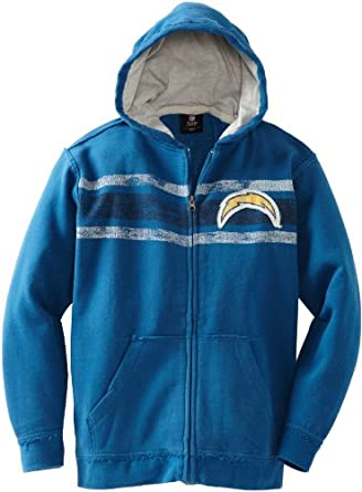 NFL San Diego Chargers 8-20 Youth Long Sleeve Vintage Full Zip Fleece by Reebok