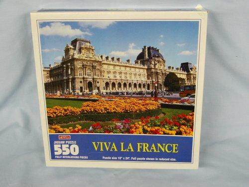 "Hoyle 550 Piece Jigsaw Puzzle Titled, ""Viva La France"" - 1"