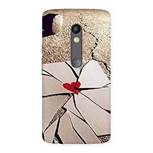 Gorgeous Broken Heart Ace Print Back Case Cover for Moto X Play