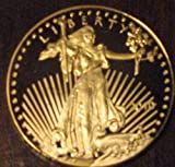 10 LOT of 1 Ounce (oz) GOLD PLATED USA LIBERTY $50 COINS REPLICAS