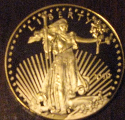 1oz Ounce US American Liberty Gold Layered Replica 2010 Coin