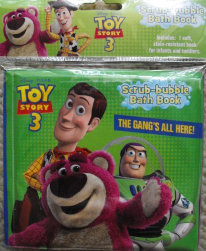 Toy Story 3 Scrub-Bubble Bath Book ~ The Gang's All Here!