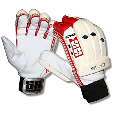 SS Countylite Boy's RH Batting Gloves (White)
