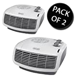 2x Delonghi HTF3033 3kw Fan Heater with Thermostat 2 heat Settings