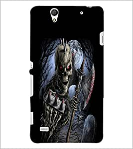 PrintDhaba Double Skeleton D-2385 Back Case Cover for SONY XPERIA C4 (Multi-Coloured)