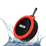 Waterproof Bluetooth Speaker LESHP Pocket Mini Speaker C6 Waterproof Portable Wireless Bluetooth Speaker with Microphone for Travel, Hiking, Riding, Running, Outdoor  and Indoor activities