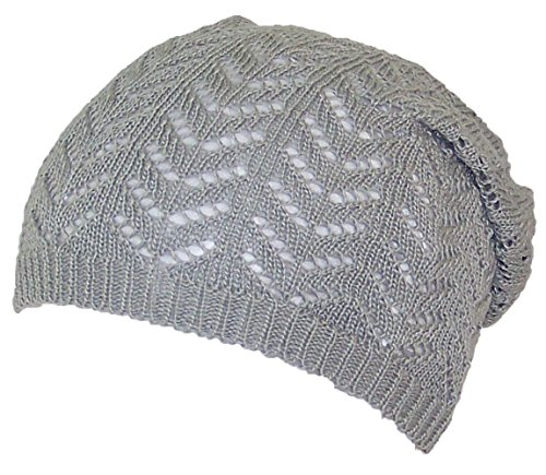 Knit Skull Cap Pattern : D&Y Womens Loose Knit Lightweight Chevron Pattern Beanie/Skull Cap (...