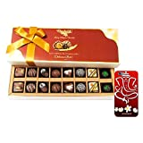 Chocholik Belgium Chocolates - 16pc Perfect Combo Of Taste And Charm With 3d Mobile Cover For IPhone 6 - Diwali...