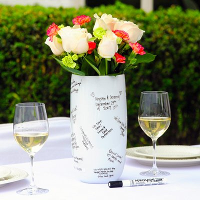 Raebella Wedding Ceremony Guest Book Alternative Signature Vase Keepsake front-815765