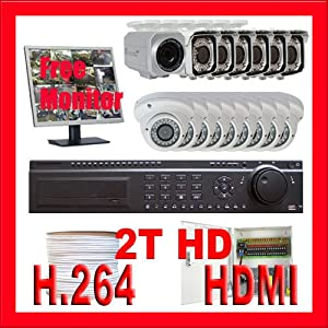 Professional 24 Channel H.264 HDMI DVR (2T HDD) with (15) x 1/3