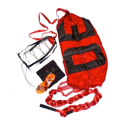 Deist Safety 27252RD Super Quad Red 12' Parachute