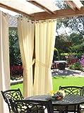 Outdoor decor Gazebo Indoor Outdoor Window Panels, 50 by 84, Natural