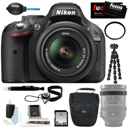 Nikon D5200 Dx-Format Digital Slr W/ 18-105Mm Vr Lens (Black) + Accessory Kit