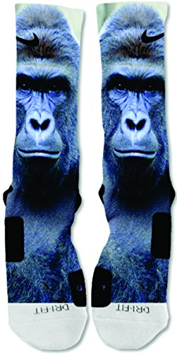 EliteDesignzz Men's Harambe Gorilla BIG Custom Nike Elite Socks (Custom Made Nike Elite Socks compare prices)