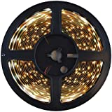 HitLights Cool White SMD3528 LED Light Strip - 300 LEDs, 16.4 Ft Roll, Cut to length - 5000K, 82 Lumens / 1.5 Watts per foot, Requires 12V DC